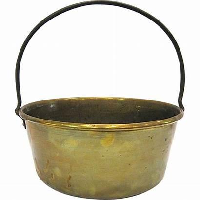 Pot Brass Antique Fireplace Iron Handle Antiquesonascot