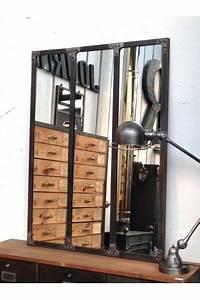 Miroir Style Verriere : miroir style atelier artiste verriere industrielle ~ Melissatoandfro.com Idées de Décoration