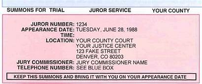 Jury Summons Sample Court Courthouse Disqualification County