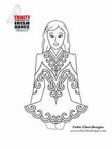 Irish Dance Dancing Coloring Sheets Template Step Printable Traditional Peep Bo Club Country sketch template