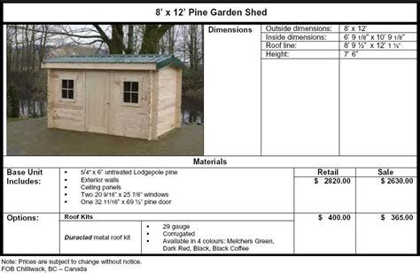 6x10 Shed Material List by 6 X 10 Shed Plans With Overhang Roof Riversshed