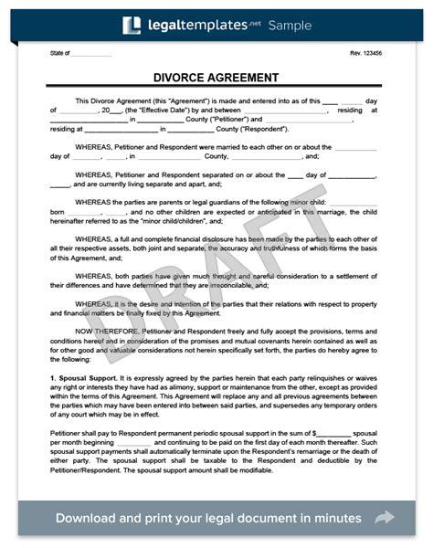 divorce agreement template divorce agreement template create a free divorce agreement form