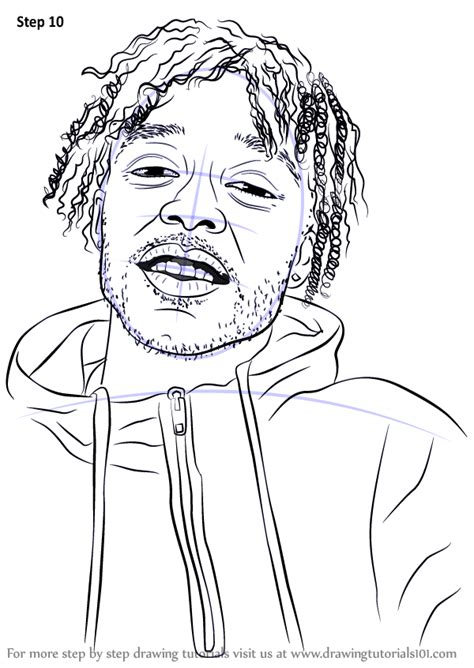 learn   draw lil uzi vert rappers step  step