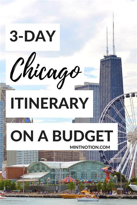 3 day chicago itinerary for first time visitors budget