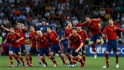 Spain Football Team National Wallpapers Celebration Soccer