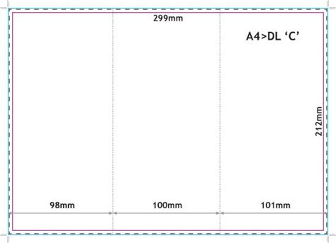 blank leaflet template inner solape folded leaflets 170gsm silk a4 folded to dl c fold