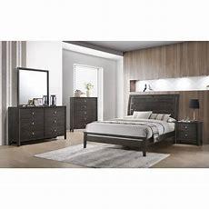 Contemporary Gray California King Bedroom Set  Grant Rc