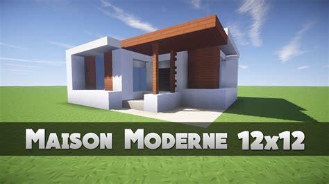 tuto maison moderne 12x12 minecraft