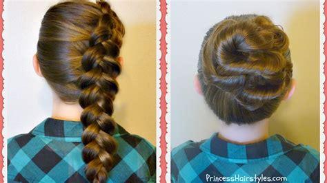 easy   school hairstyles side dutch braid messy bun twist youtube