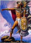 aztec art JPG  Aztec Eagle Warrior Drawing