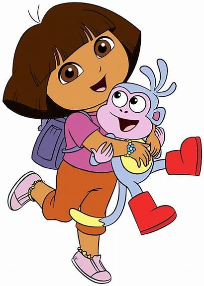 Dora Explorer Clip Clipart Cartoon Animated Exploradora