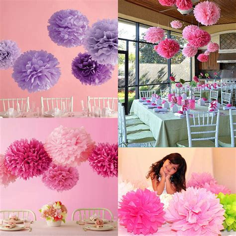 Kinderzimmer Deko Pom Poms by 10pcs Wedding S Home Outdoor Decor Tissue Paper