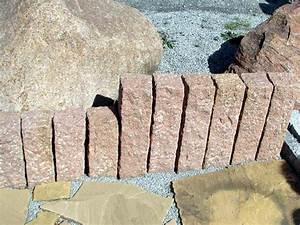 Beeteinfassung Granit Anleitung : granit palisaden treppe granit palisaden 20 ideen f r sch ne gartengestaltung garten 600 qm ~ Markanthonyermac.com Haus und Dekorationen