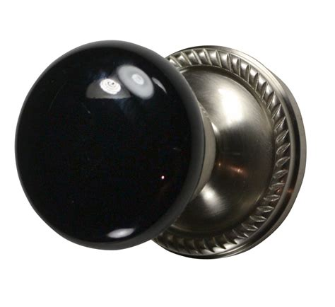 black door knobs black porcelain door knob brushed nickel georgian roped