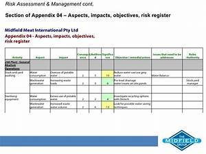 midfield meats ems With environmental aspects register template