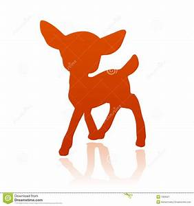 Little Deer Fawn Silhouette Royalty Free Stock Photography ...