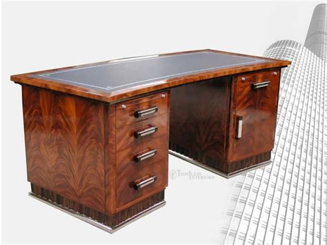 art deco desk l art deco style pedestal desk timeless interior designer