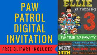diy invitations how to make a paw patrol digital invitation includes