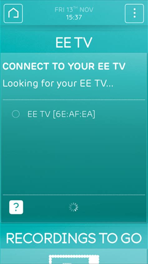 app that connects phone to tv pairing your ee tv app to a new ee tv box