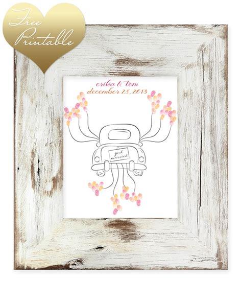 printable thumbprint wedding guest book artfully
