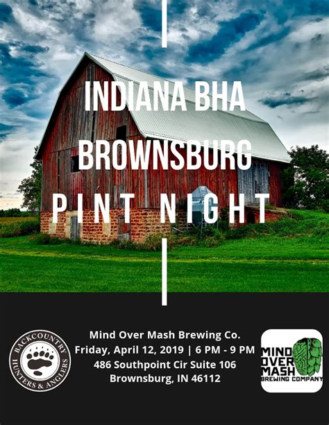 brownsburg indiana pint night backcountry hunters