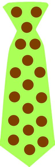 green tie  brown polka dots clip art  clkercom