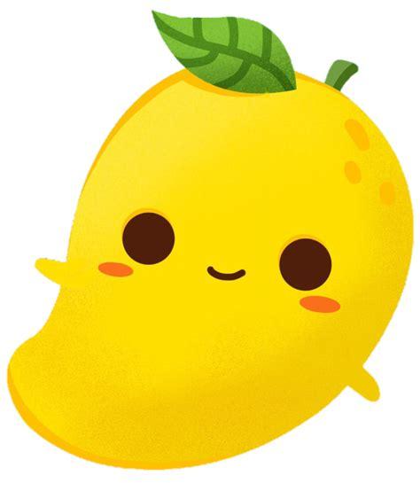 scmango mango cartoon cute colorful emoji smile