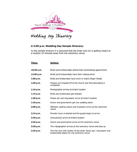 wedding agenda template 9 wedding agenda templates free sle exle format free premium templates