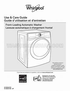 Whirlpool Wfw72hedw Washer Use  U0026 Care Guide