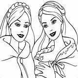 Coloring Barbie Friends Friend Princess Popular Bpb sketch template