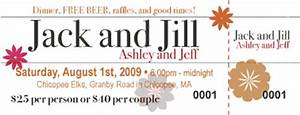 georgeous o jack and jill tickets and invitations With jack and jill tickets templates