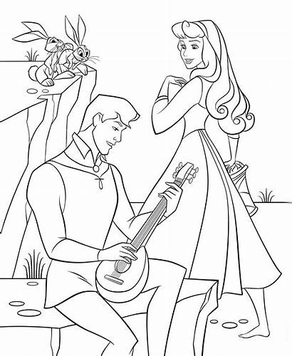 Aurora Coloring Disney Princess Pages Phillip Prince