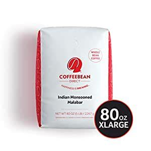 After it is brewed, a cup of espresso has around 12% dissolved coffee solids from your grounds, compared to the mere 2% of traditional coffee. Amazon.com : Coffee Bean Direct Indian Monsooned Malabar ...