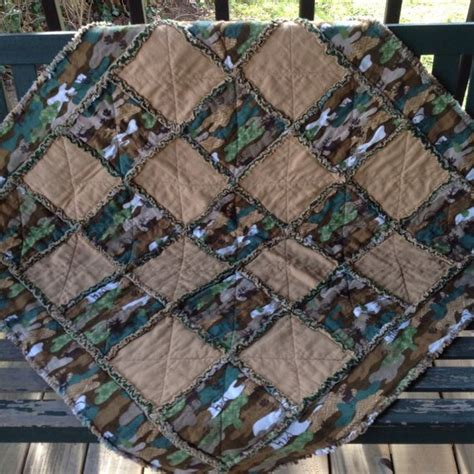 camo quilt pattern boy green brown camo baby rag quilt green brown baby