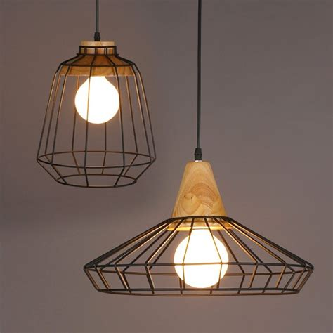 Buy Timber Top Metal Cage light Style B Online - By Living