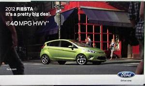 2012 Ford Fiesta Sales Folder Mailer Original