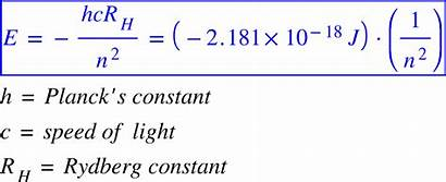 Energy Equation Level Electron Solution Shell Which
