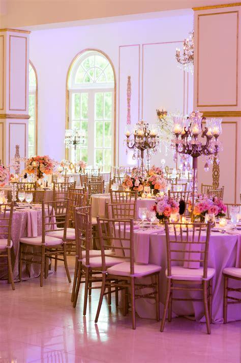 Ivory Gold & Pink Wedding Reception ~ Venue: Chateau