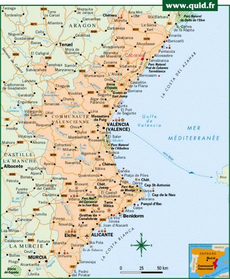 Carte Espagne Telecharger.Telecharger Carte De Valence Espagne Et Ses Environs