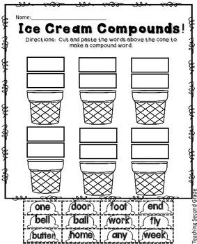compound words worksheet compound word activity cut by