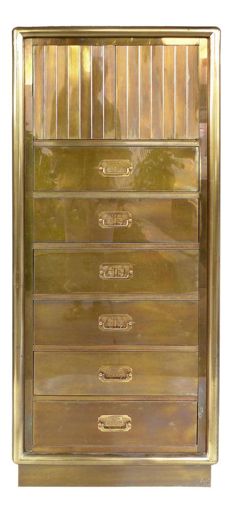 mid century modern mastercraft brass lingerie chest