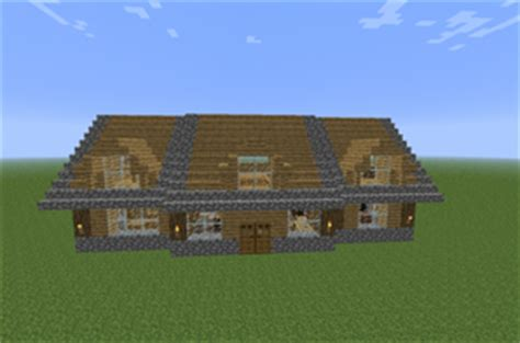maison en bois de construction minecraft