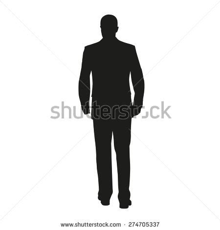 business in suit vector silhouette stock vector