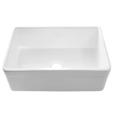 30 apron front sink white sinkology wheatley reversible farmhouse apron front