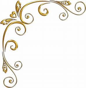 Elegant Gold Corner Border