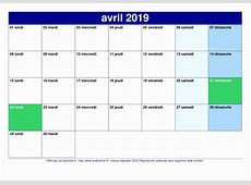 Calendrier 2019 Mois Par Mois Calendar 2019 Template