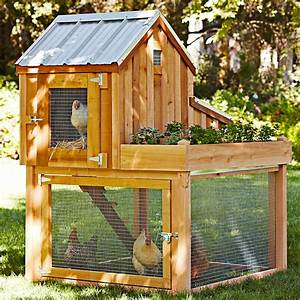 Cedar Chicken Coop and Run with Garden Planter - The Green