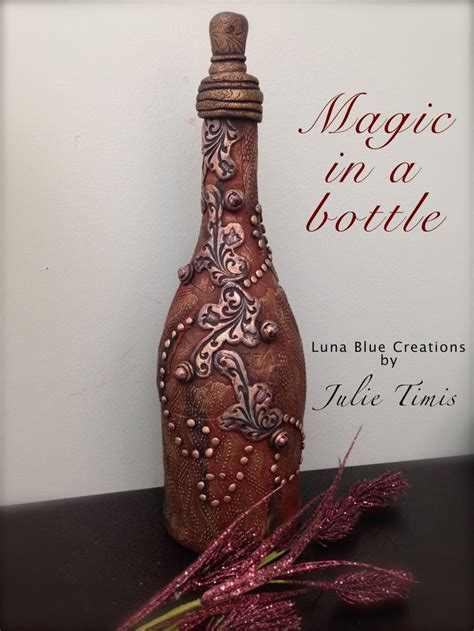 decorative bottles luna blue creations magic