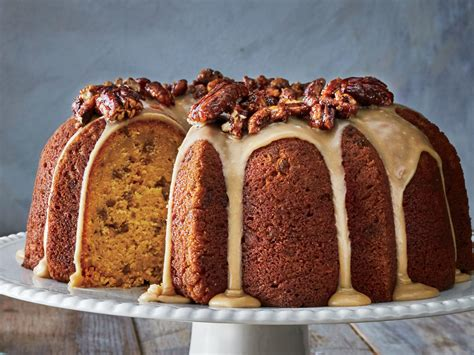 Pumpkin-spice Bundt With Brown Sugar Icing And Candied