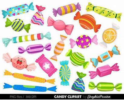 Candy Clipart Graphics Wonka Sweets Clip Candies